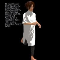 3D Clothing - Slave Smock a by ibr-remote