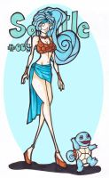 Squirtle-girl (# 007) by LadyAstrogah