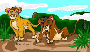 Mufasa and Scar Cubs by MWRoach