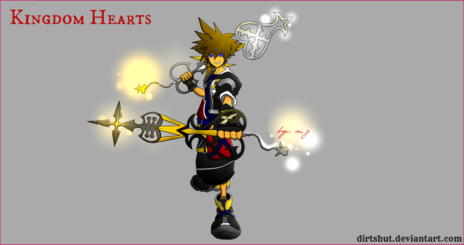sora with my personal customize KEYBLADE 2 by dirtshut