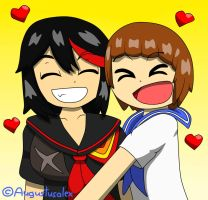 Ryuko And Mako Love by Augustusalex