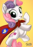 Sweetie Belle Caped Crusader by mysticalpha