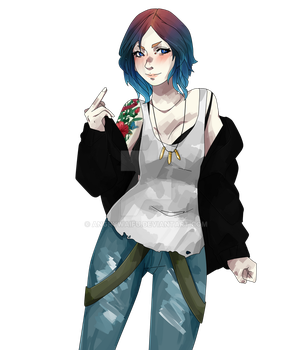 chloe life is strange fanart by AngryWaifu