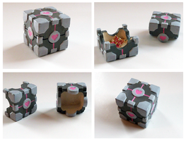 Companion Cube Box by Rhyara