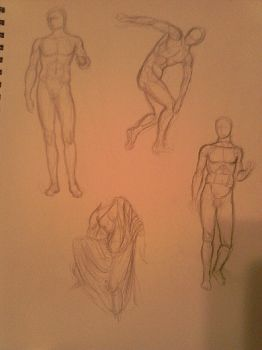 Greek Statue Sketches1 by MyWorld1