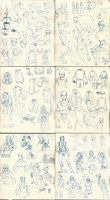 Doodle Diary pages 13-18 by The-Alchemists-Muse