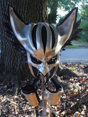 Leather Hawkgirl Helmet with Bracer by Epic-Leather