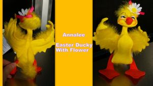 Annalee Easter Duck with Flower by Vesperwolfy87