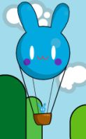 Hot Air bunny by Currykat