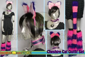 Cheshire Cat Set by lemonbrat