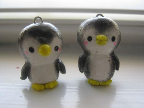 Polymer Clay Penguins by CraftyGirl27