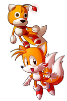 Tails Doll and Tails by Zoiby