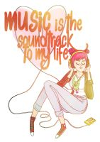 Music Is The Soundtrack To My Life by norrling