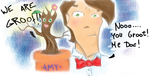 Doctor and the Groot by purple-xanax
