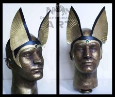 Egyptian Headdress with Anubis Ears by nondecaf