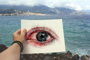 Eye drawing by KlarEm