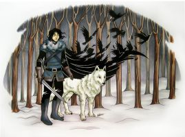 The Crow and the Wolf by Super-Chi