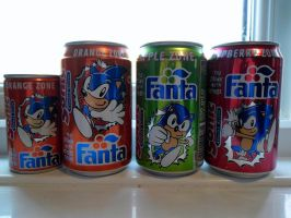 Sonic The Hedgehog Fanta drinks from 1995 (Empty) by DarkGamer2011