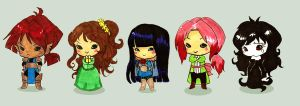 Thankies Chibis by SpectralFairy