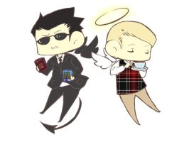 Good Omens doodle by randomnessrox92