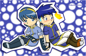 Marth and Ike by kaorijp