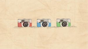 Vintage Cameras - Wallpaper by Oweeo