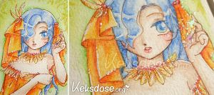 ACEO 031 Orange Bride by yumkeks