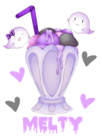 Pastel Goth Melty Ice Cream by Pastel--Puke