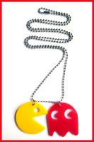 Pacman Acrylic Necklace 1 by cherryboop