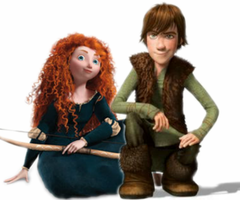 Merida and Hiccup by jellybreaker