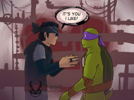 TMNT Jonatello - It's you I like by Dragona15