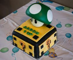 1up birthday cake by Z-GrimV