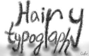 Hairy typography by Cifro