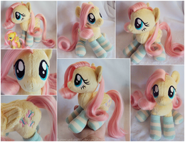 Fluttershy Beanie with Brushable Hair by ButtercupBabyPPG