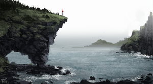 Day 409. Lighthouse by Cryptid-Creations