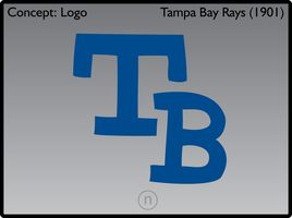 Tampa Bay Rays 1901 Logos by JimmyNutini