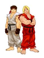 Ryu and Ken by Boldo
