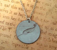Narwhal Torch Enamel Necklace by FusedElegance