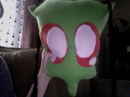 LIFE SIZED ZIM PLUSH WIP HEAD by exileinvadercat