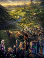 Temporum Board Illustration by Alayna