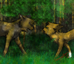 brambleclaw and squirrelflight by purple-reaper