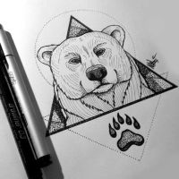 Bear Tattoo by MaryMaryLP