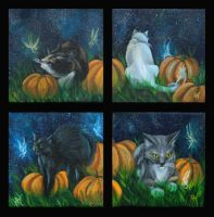 Pumpkin Cats by NicoleHansche