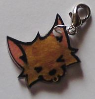Kawaii howling wolf charm by Lovelyruthie