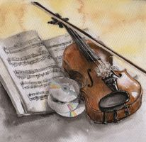 Violin by NitTata