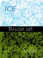Brush set: Ice and Hedges by yourstock