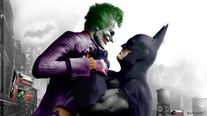 The Joker and Batman Arkham City by MoonySascha