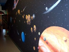 Space Mural 5 by Nevuela