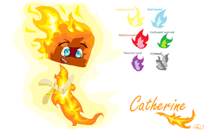 Catherine The Blaze reff. sheet in ms paint! by SnapDragonStudios