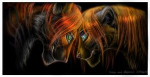The Lioness and the Tiger by OmegaLioness